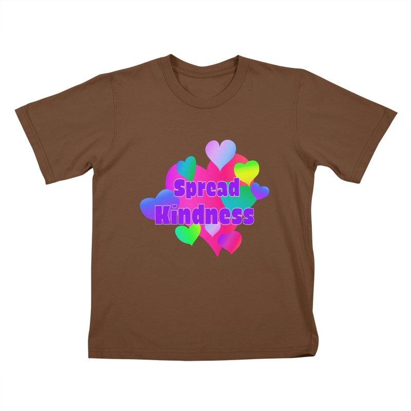 Spread Kindness - Apparel Kids T-Shirt by buxmontweb's Artist Shop