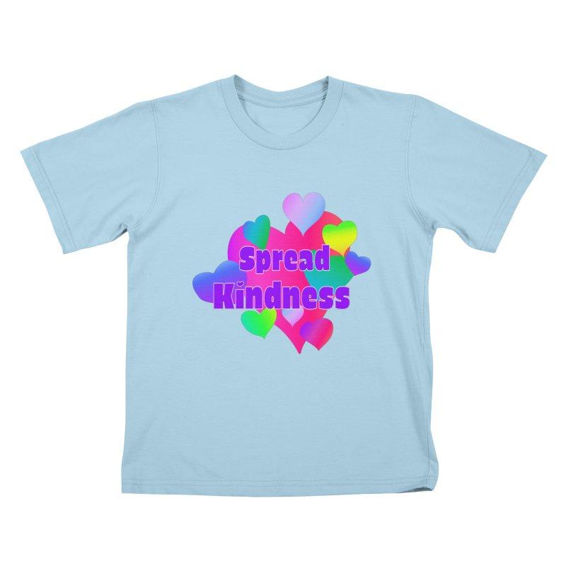 Spread Kindness - Apparel Kids T-Shirt by buxmontweb's Artist Shop