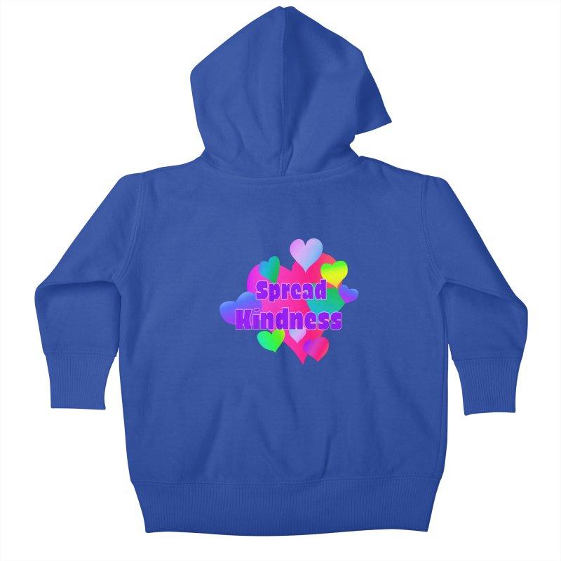 Spread Kindness - Apparel Kids Baby Zip-Up Hoody by buxmontweb's Artist Shop