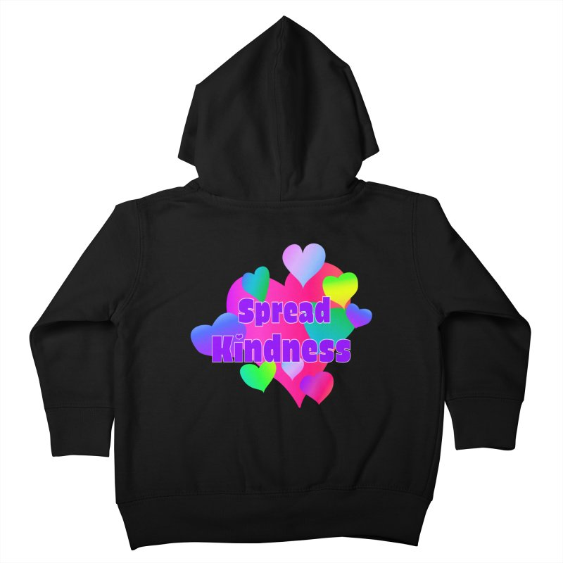 Spread Kindness - Apparel Kids Toddler Zip-Up Hoody by buxmontweb's Artist Shop
