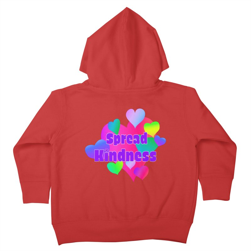 Spread Kindness - Apparel Kids Toddler Zip-Up Hoody by buxmontweb's Artist Shop