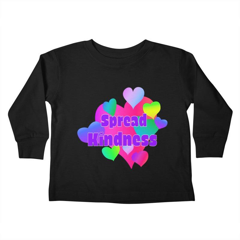 Spread Kindness - Apparel Kids Toddler Longsleeve T-Shirt by buxmontweb's Artist Shop