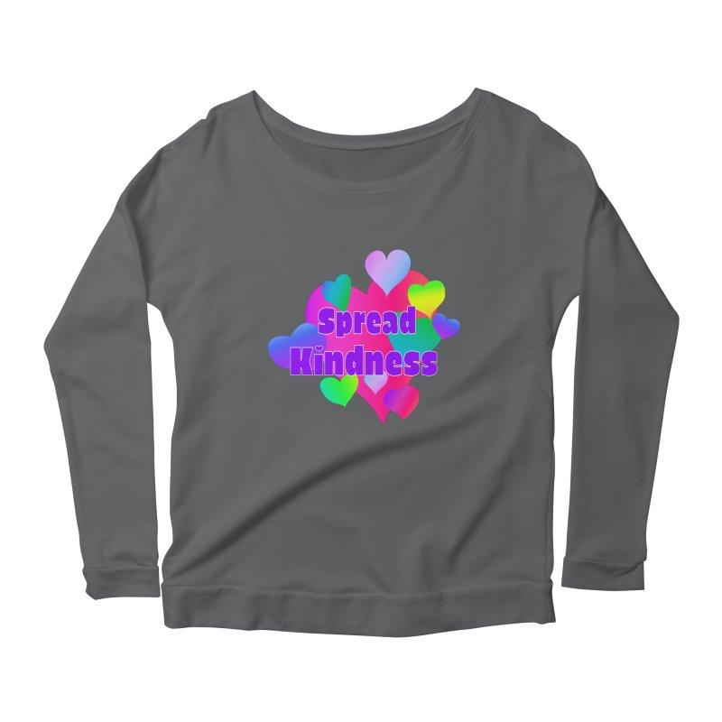 Spread Kindness - Apparel Women's Scoop Neck Longsleeve T-Shirt by buxmontweb's Artist Shop