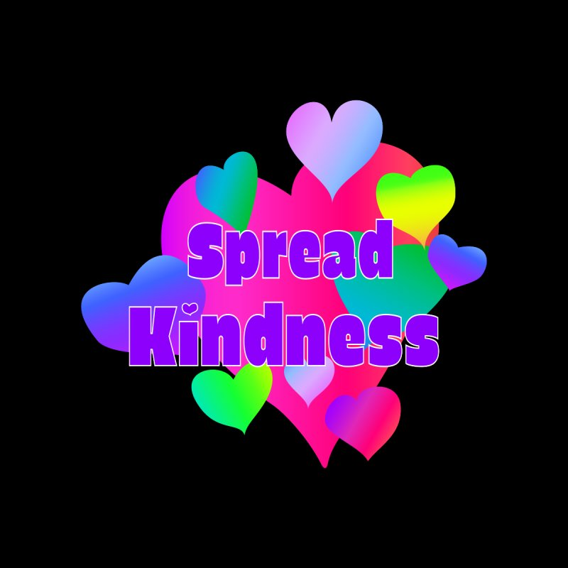 Spread Kindness - Black Background Accessories Notebook by buxmontweb's Artist Shop