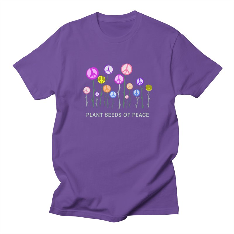 Plant Seeds of Peace - Dark Background Men's T-Shirt by buxmontweb's Artist Shop