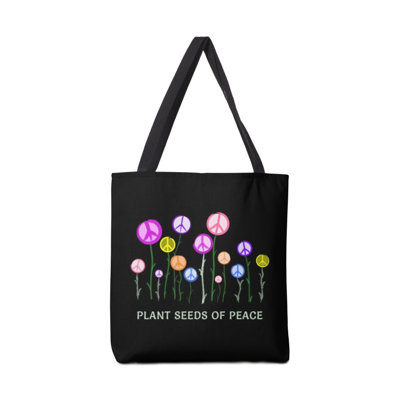 Plant Seeds of Peace - Dark Background Accessories Bag by buxmontweb's Artist Shop