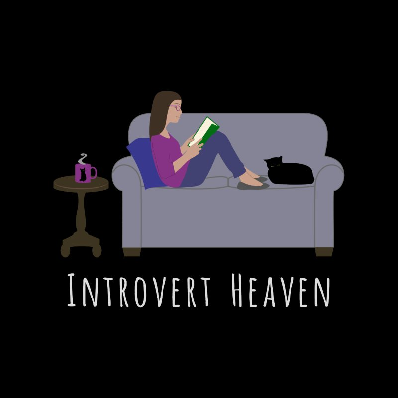 Introvert Heaven - Dark Background Women's Scoop Neck by buxmontweb's Artist Shop