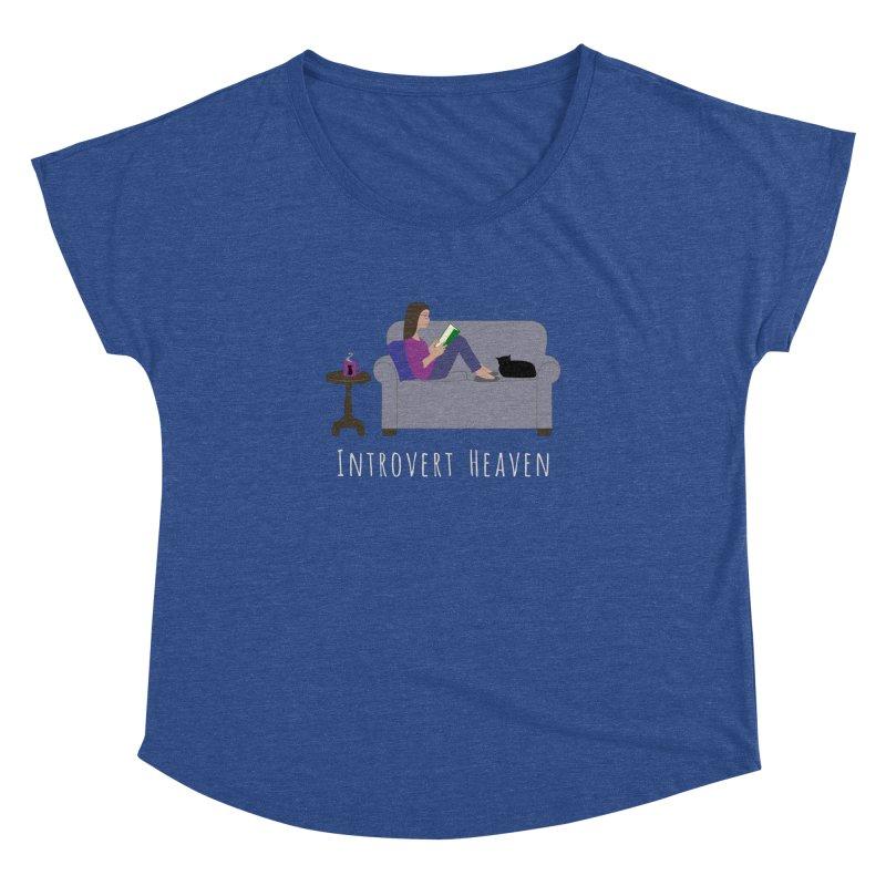 Introvert Heaven - Dark Background Women's Dolman Scoop Neck by buxmontweb's Artist Shop