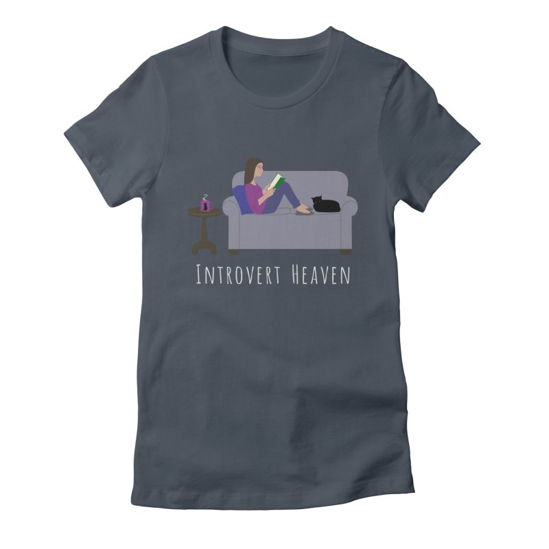 Introvert Heaven - Dark Background Women's T-Shirt by buxmontweb's Artist Shop