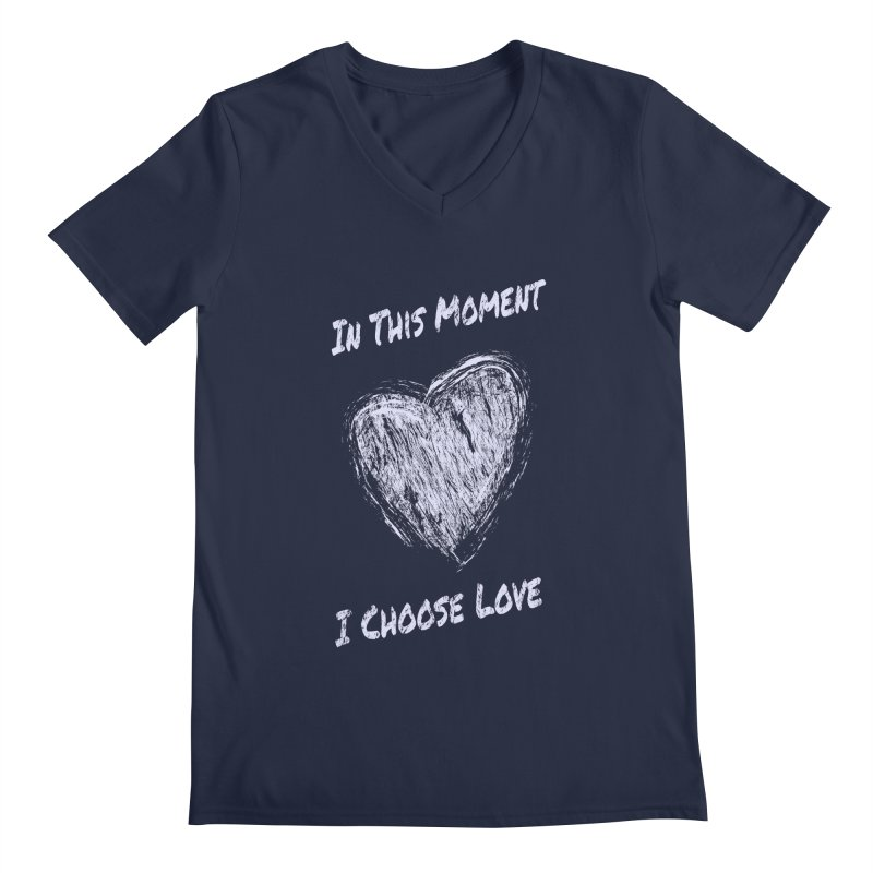 I Choose Love Men's Regular V-Neck by buxmontweb's Artist Shop