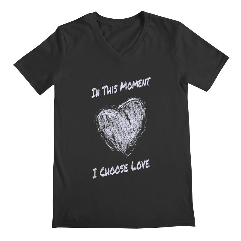 I Choose Love Men's Regular V-Neck by buxmontweb's Artist Shop