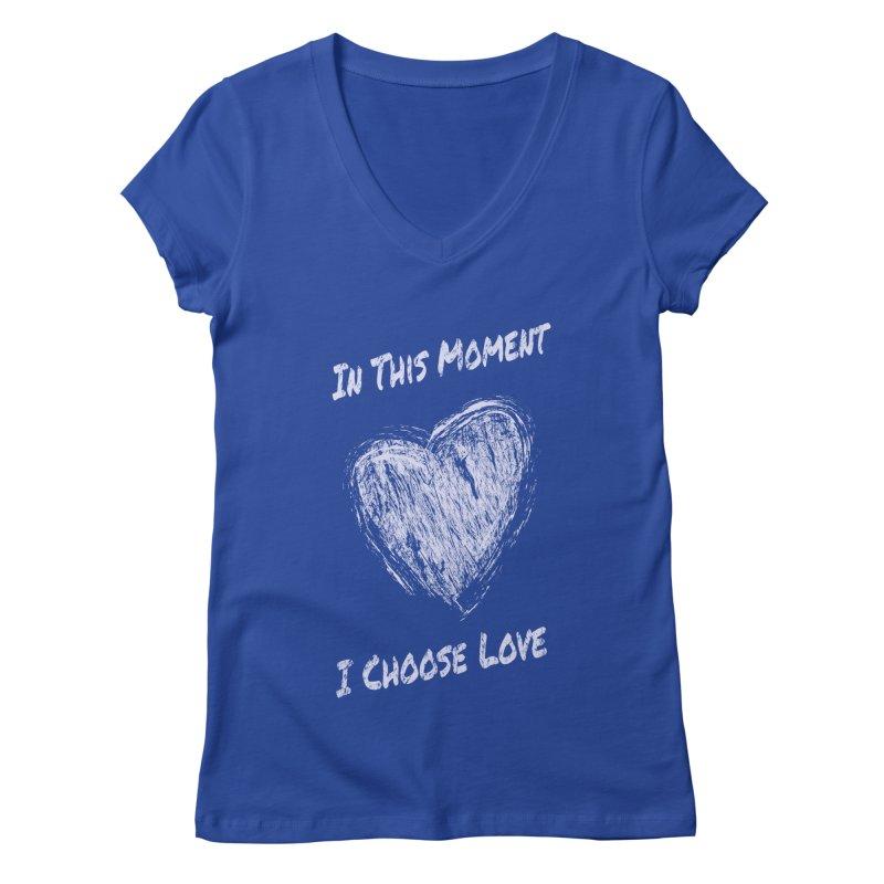 I Choose Love Women's Regular V-Neck by buxmontweb's Artist Shop
