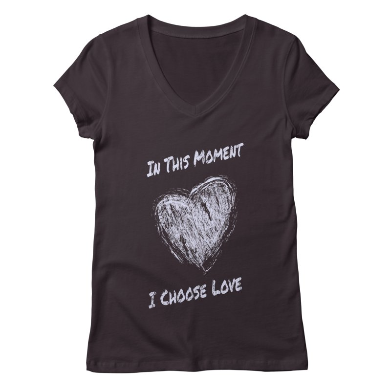 I Choose Love Women's Regular V-Neck by buxmontweb's Artist Shop