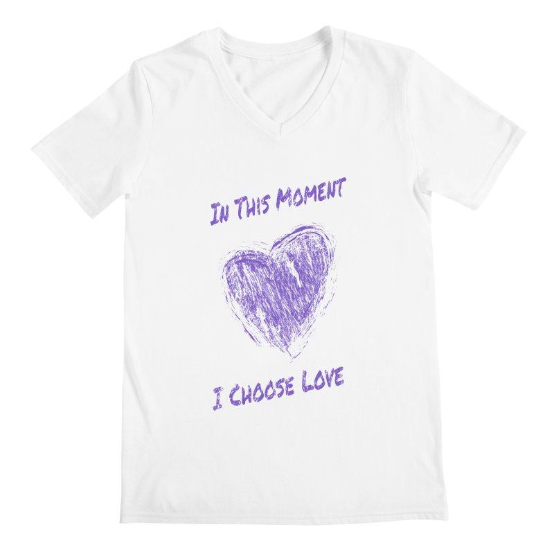 I Choose Love - Light Background Men's Regular V-Neck by buxmontweb's Artist Shop