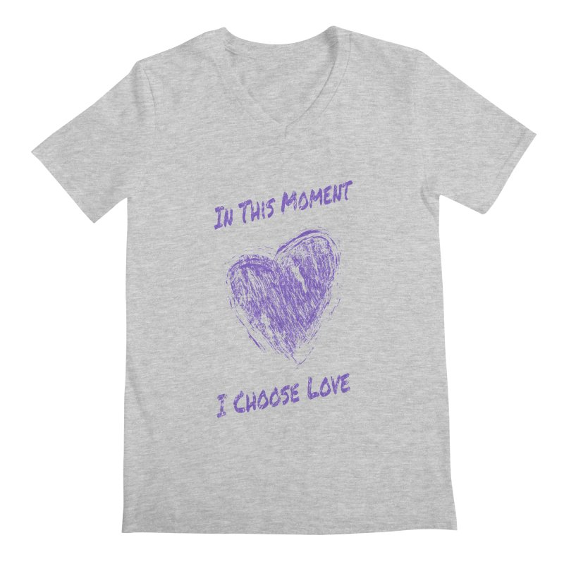I Choose Love - Light Background Men's Regular V-Neck by buxmontweb's Artist Shop