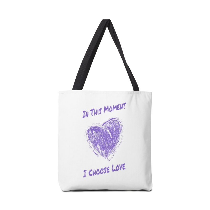 I Choose Love - Light Background Accessories Tote Bag Bag by buxmontweb's Artist Shop