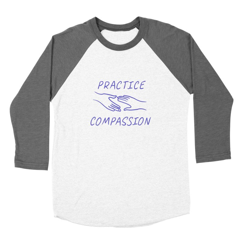 Compassion - Light Background Men's Baseball Triblend Longsleeve T-Shirt by buxmontweb's Artist Shop