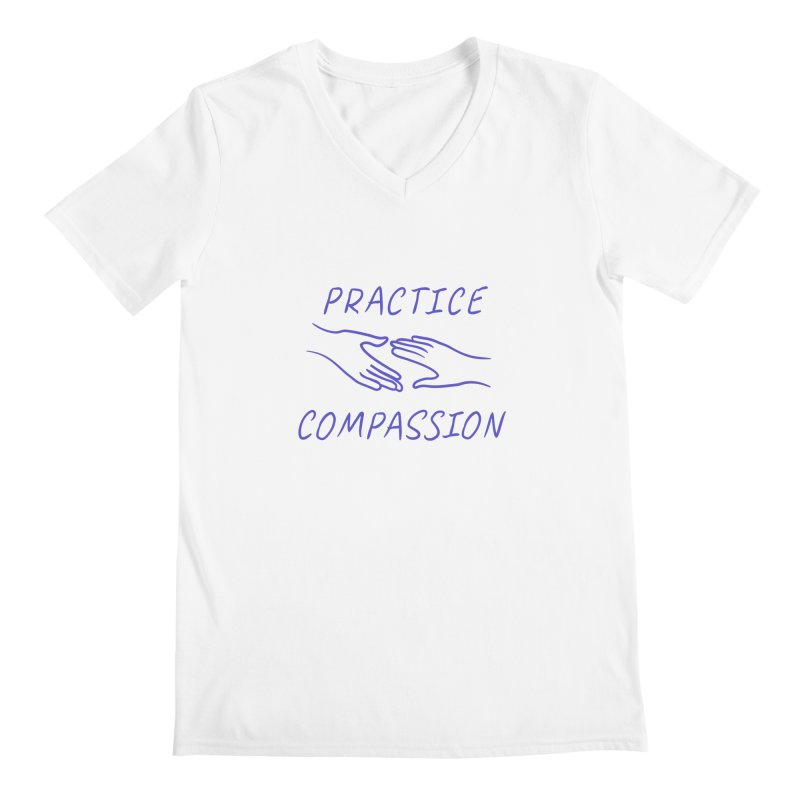 Compassion - Light Background Men's Regular V-Neck by buxmontweb's Artist Shop