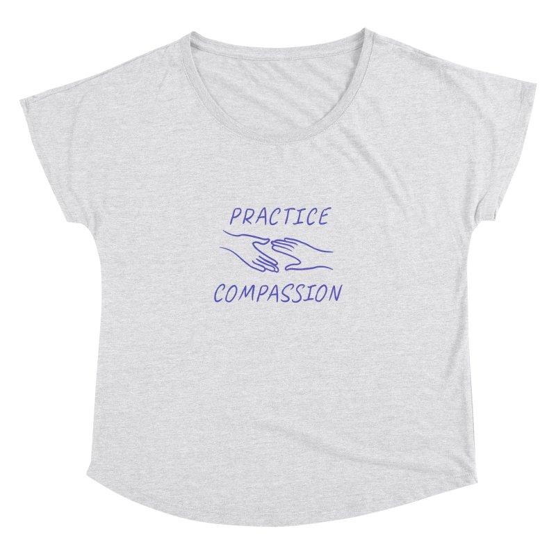 Compassion - Light Background Women's Scoop Neck by buxmontweb's Artist Shop
