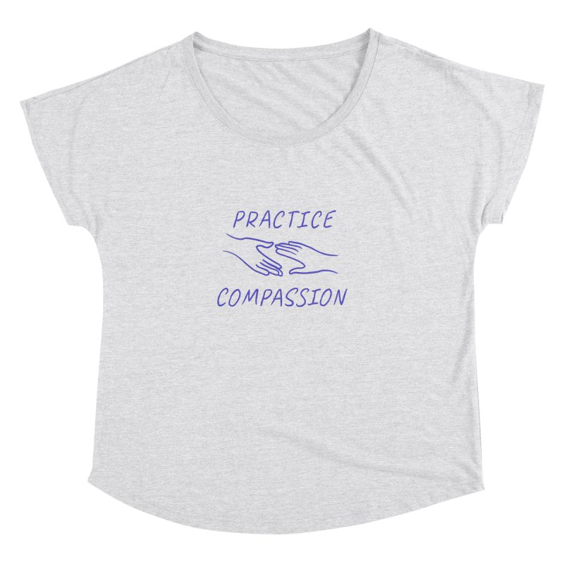 Compassion - Light Background Women's Dolman Scoop Neck by buxmontweb's Artist Shop