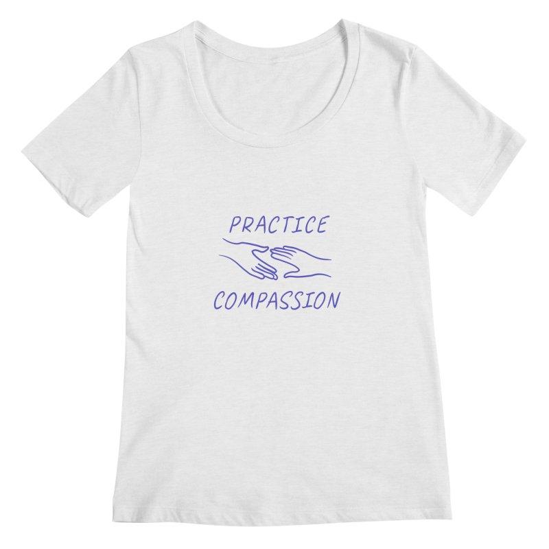Compassion - Light Background Women's Regular Scoop Neck by buxmontweb's Artist Shop