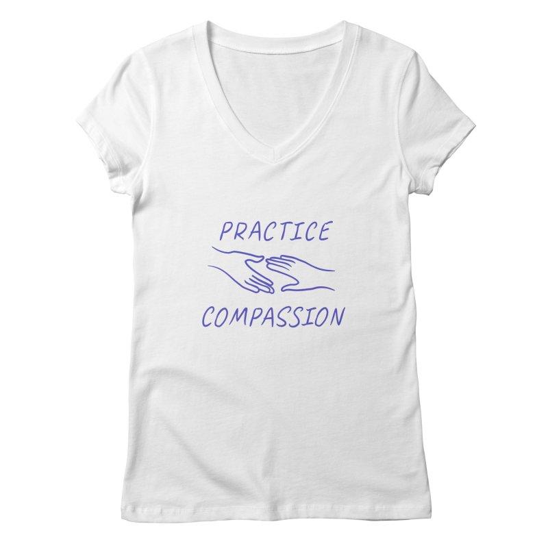 Compassion - Light Background Women's Regular V-Neck by buxmontweb's Artist Shop