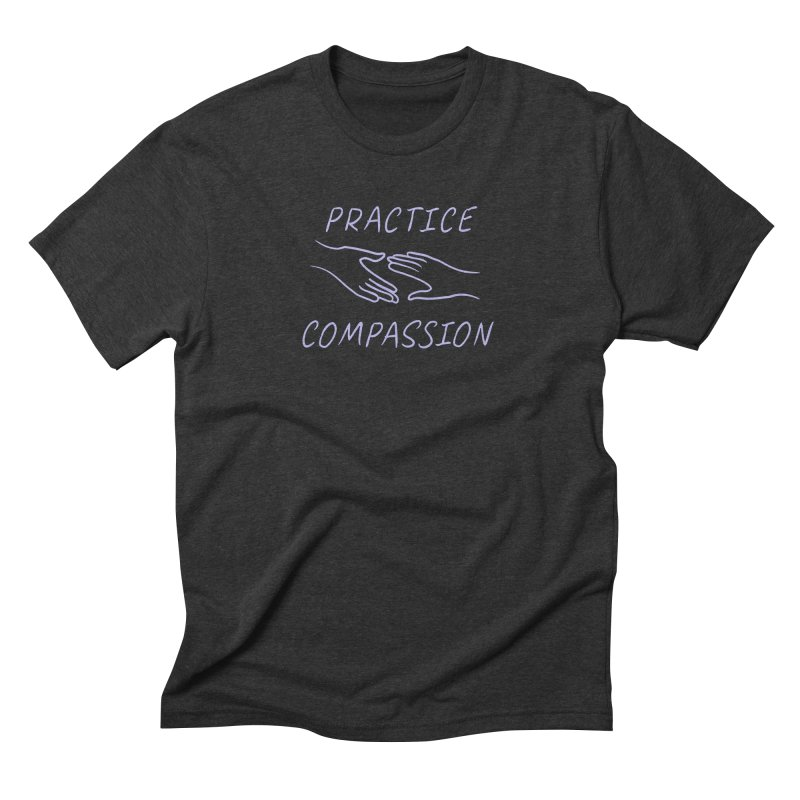 Compassion - Dark Background Men's Triblend T-Shirt by buxmontweb's Artist Shop