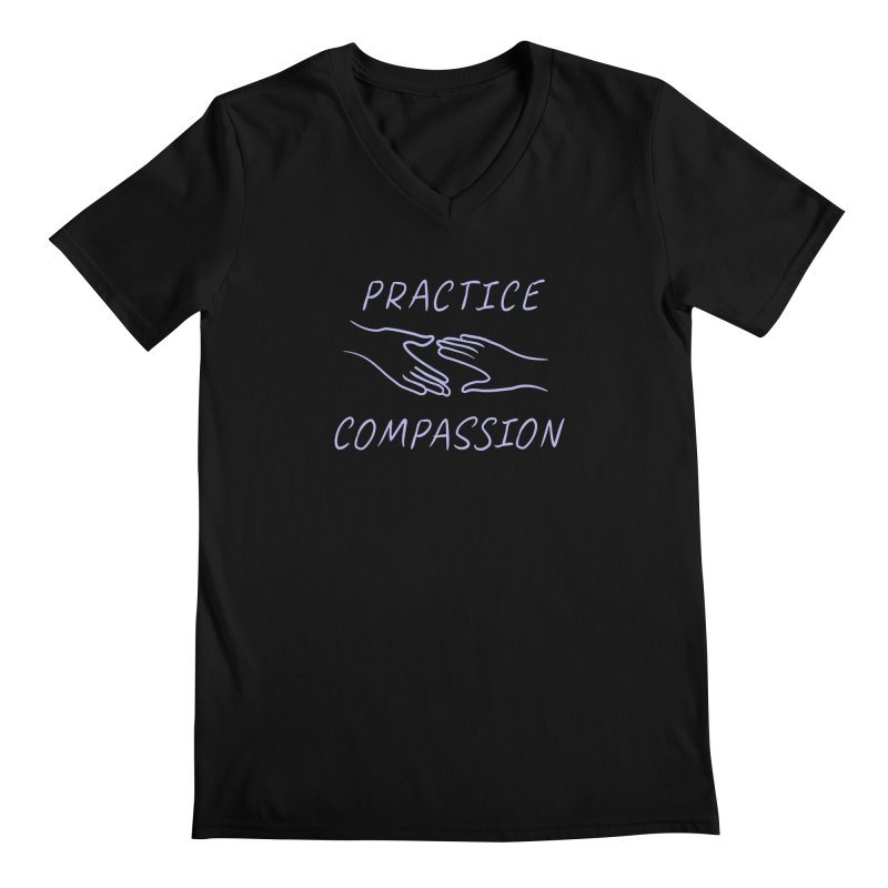 Compassion - Dark Background Men's Regular V-Neck by buxmontweb's Artist Shop