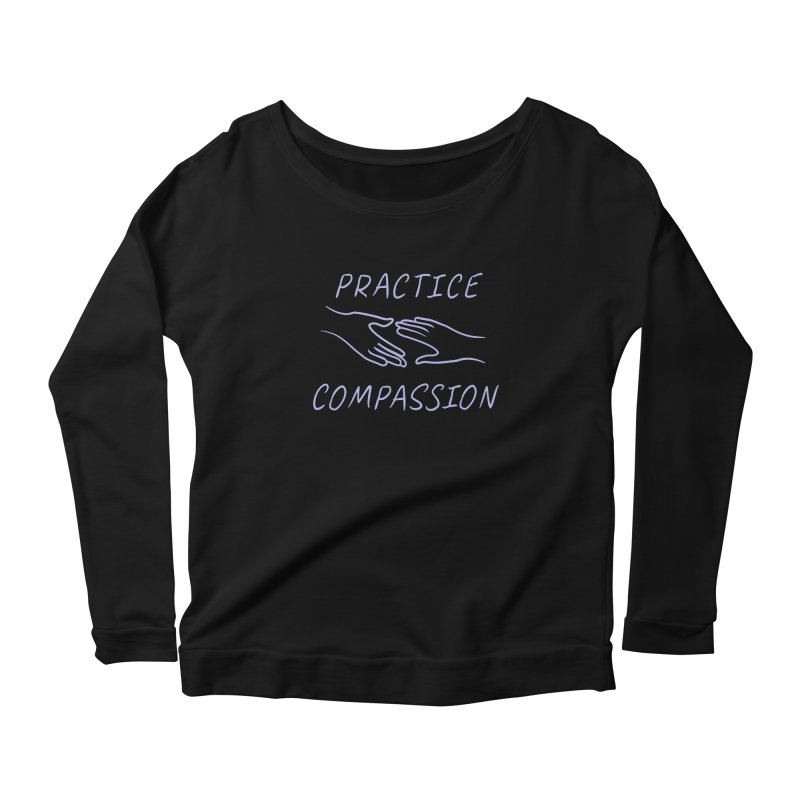 Compassion - Dark Background Women's Scoop Neck Longsleeve T-Shirt by buxmontweb's Artist Shop