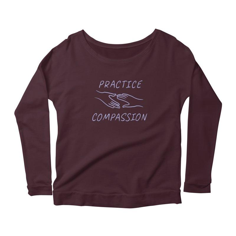 Compassion - Dark Background Women's Scoop Neck Longsleeve T-Shirt by buxmontweb's Artist Shop