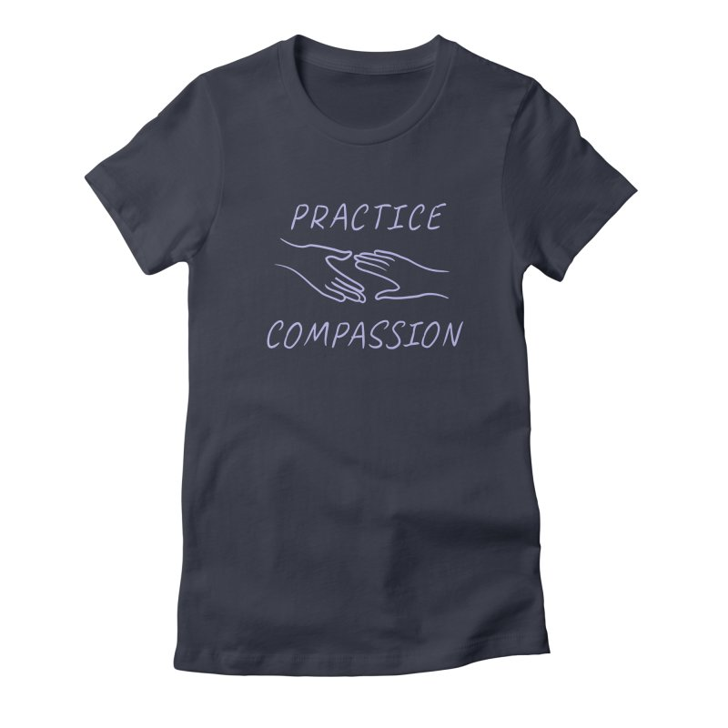 Compassion - Dark Background Women's Fitted T-Shirt by buxmontweb's Artist Shop