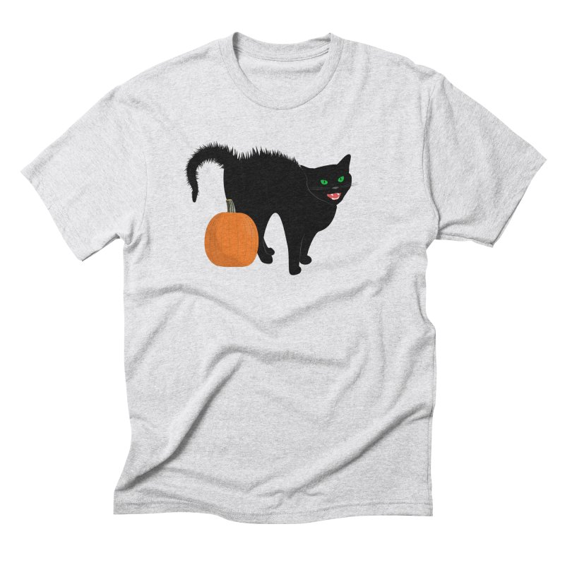 Halloween Cat Men's Triblend T-Shirt by buxmontweb's Artist Shop