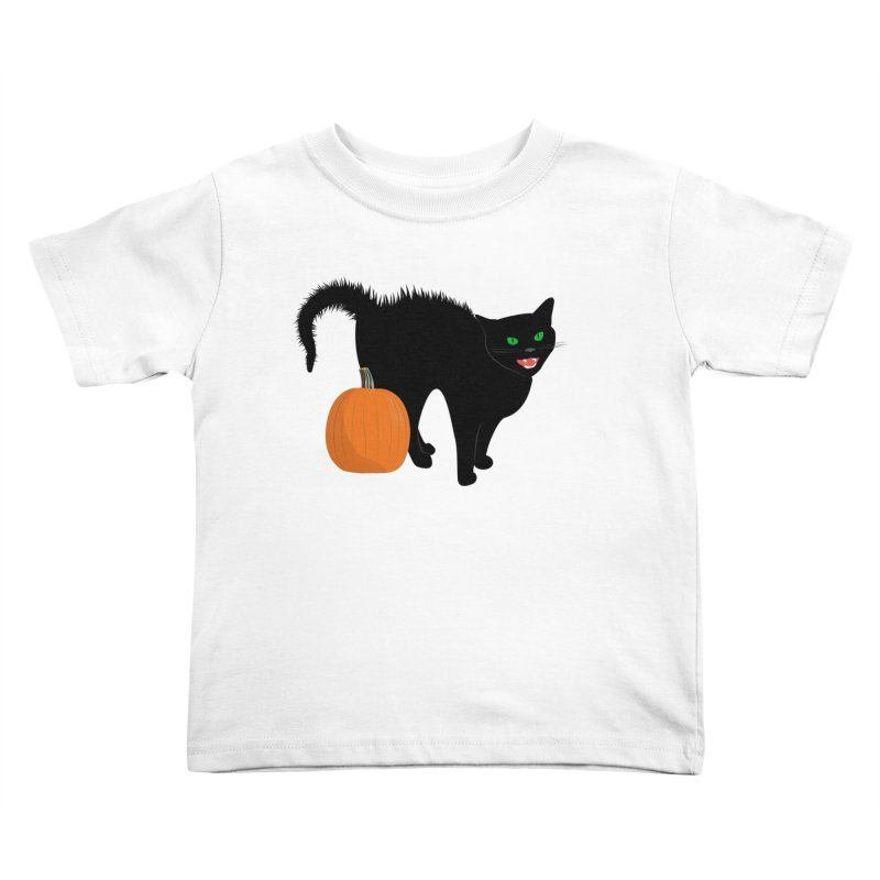 Halloween Cat Kids Toddler T-Shirt by buxmontweb's Artist Shop