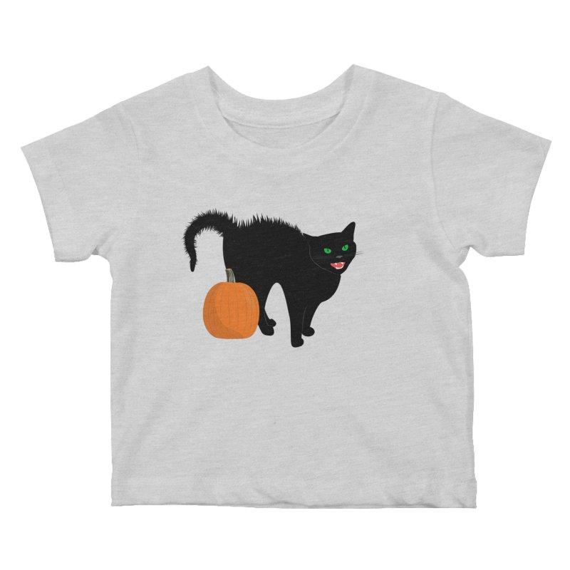 Halloween Cat Kids Baby T-Shirt by buxmontweb's Artist Shop