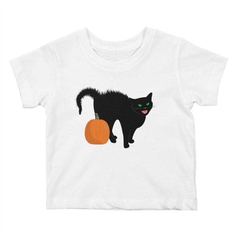 Halloween Cat Kids Baby T-Shirt by buxmontweb's Artist Shop