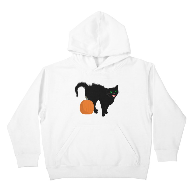 Halloween Cat Kids Pullover Hoody by buxmontweb's Artist Shop