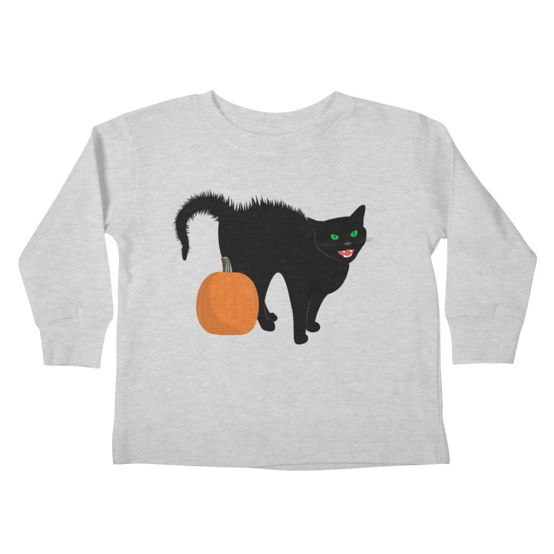 Halloween Cat Kids Toddler Longsleeve T-Shirt by buxmontweb's Artist Shop