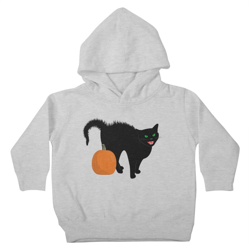 Halloween Cat Kids Toddler Pullover Hoody by buxmontweb's Artist Shop