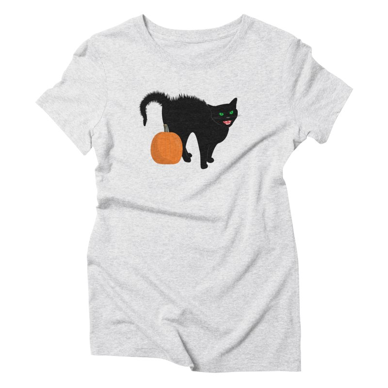 Halloween Cat Women's Triblend T-Shirt by buxmontweb's Artist Shop