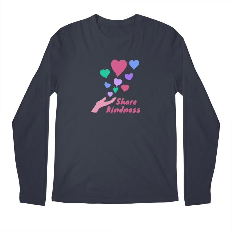 Share Kindness Men's Regular Longsleeve T-Shirt by buxmontweb's Artist Shop