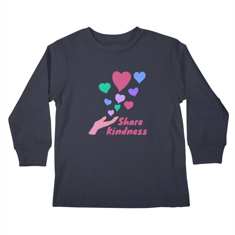 Share Kindness Kids Longsleeve T-Shirt by buxmontweb's Artist Shop