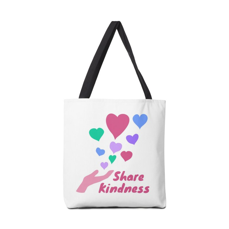 Share Kindness Accessories Bag by buxmontweb's Artist Shop