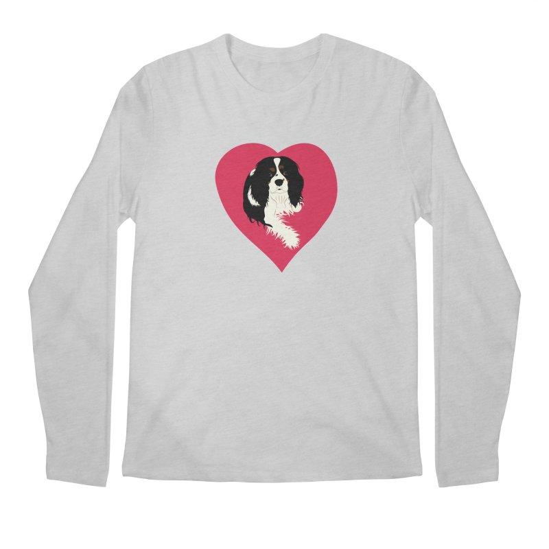 Cavalier Love Men's Regular Longsleeve T-Shirt by buxmontweb's Artist Shop