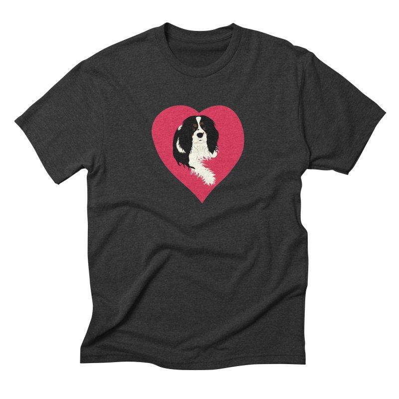 Cavalier Love Men's Triblend T-Shirt by buxmontweb's Artist Shop