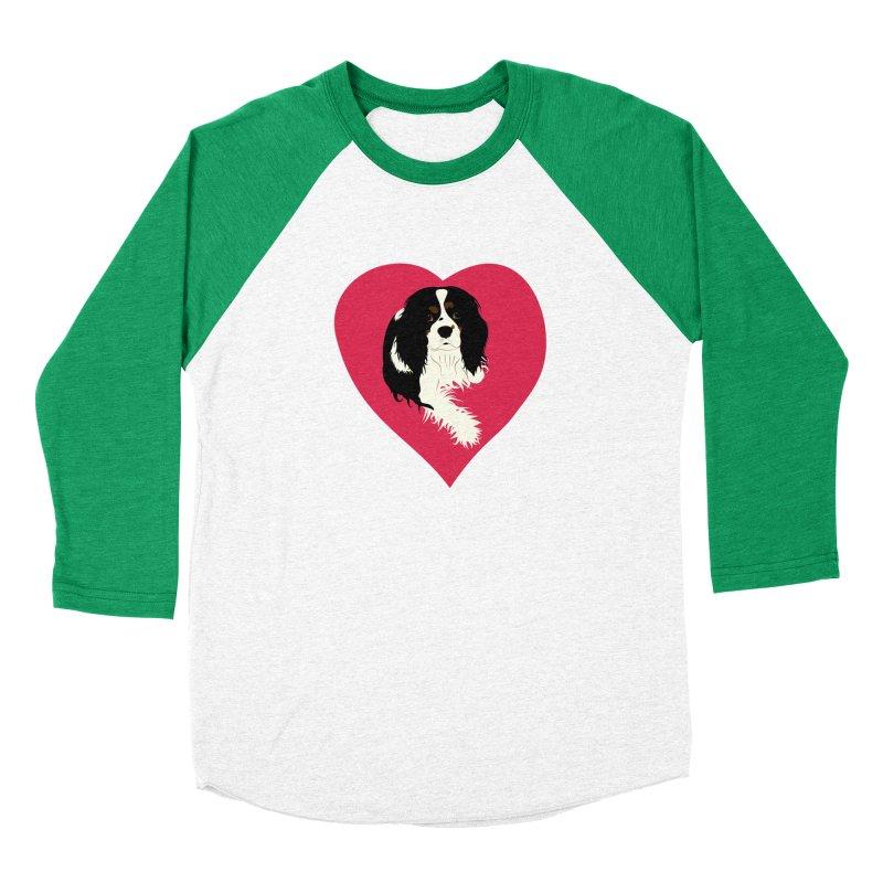 Cavalier Love Women's Baseball Triblend Longsleeve T-Shirt by buxmontweb's Artist Shop