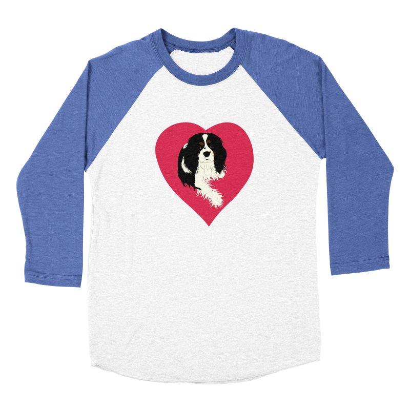 Cavalier Love Men's Baseball Triblend Longsleeve T-Shirt by buxmontweb's Artist Shop