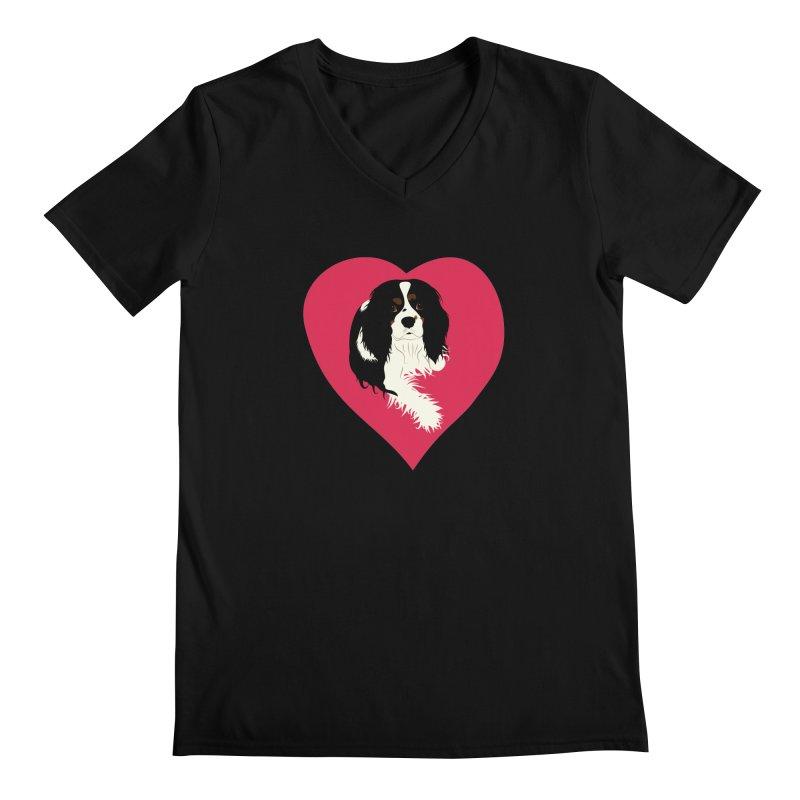 Cavalier Love Men's Regular V-Neck by buxmontweb's Artist Shop