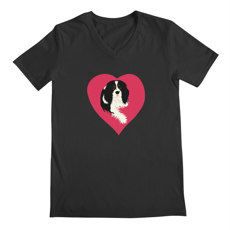 Cavalier Love Men's Regular V-Neck by buxmontweb's Artist Shop
