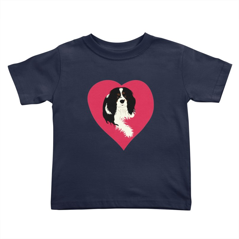 Cavalier Love Kids Toddler T-Shirt by buxmontweb's Artist Shop