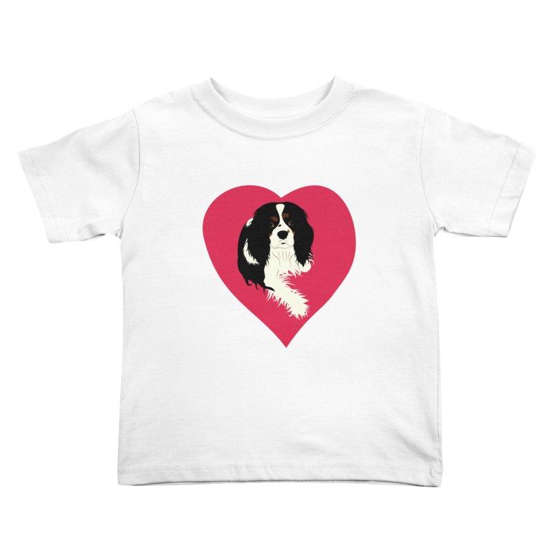 Cavalier Love Kids Toddler T-Shirt by buxmontweb's Artist Shop